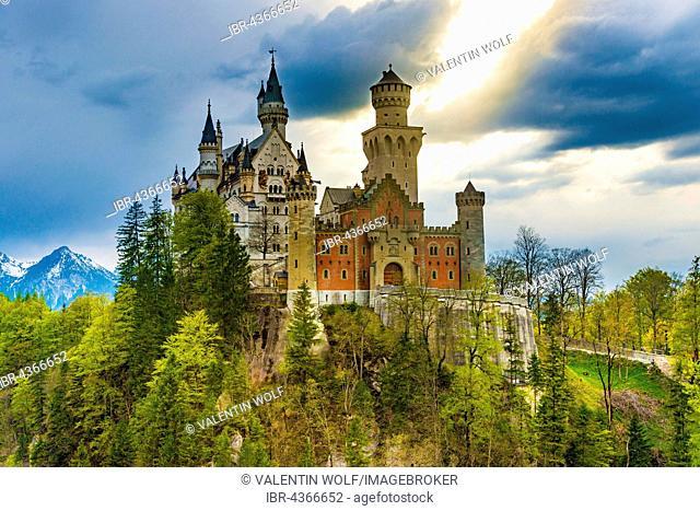 Neuschwanstein Castle, Schwangau, Allgäu, Bavaria, Germany