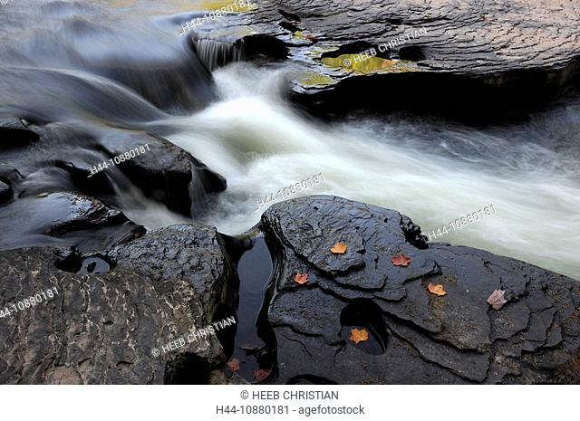 at Nawadaha Waterfalls, Presque Isle River, nature, Porcupine Mountains, Wilderness, State Park, Michigan, USA