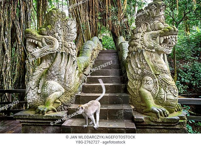 Dragon Bridge in the Sacred Monkey Sanctuary, Bali, Indonesia