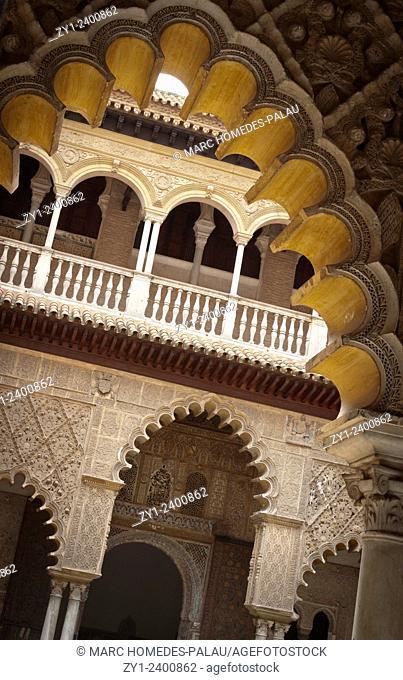 Alcazar of Seville: cloister of The Courtyard of the Maidens (Patio de las Doncellas)