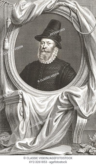 James Douglas, 4th Earl of Morton, c 1516 - 1581. Scottish lord. Regent of Scotland. From the 1813 edition of The Heads of Illustrious Persons of Great Britain