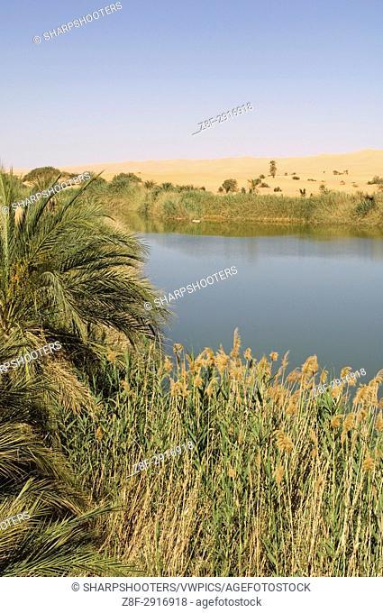 Mafu lake, Erg Awbari, Sahara desert, Fezzan, Libya