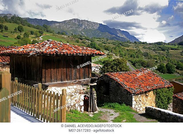 Asiegu village, Asturias, Spain, Europe