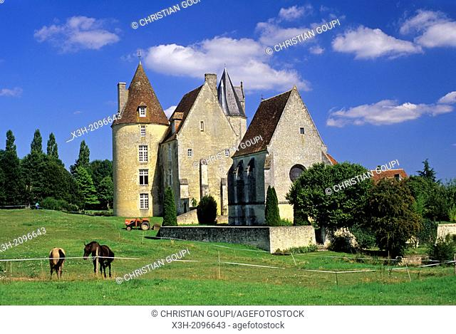 La Vove manor house at Corbon, Regional Natural Park of Perche, Orne department, Lower Normandy region, France, Western Europe