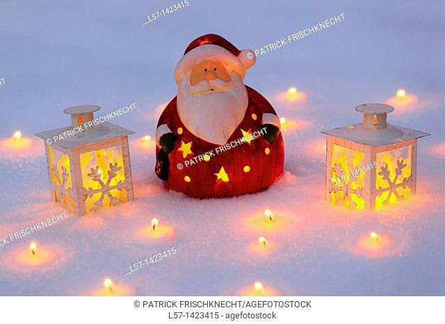 Santa Claus and lantern
