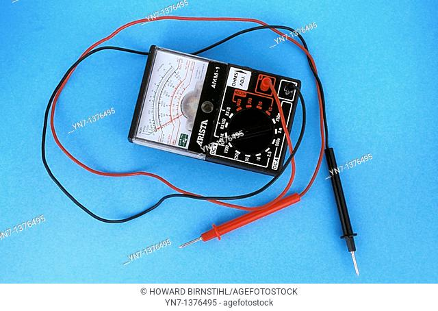 close up product shopt of an ohmmeter