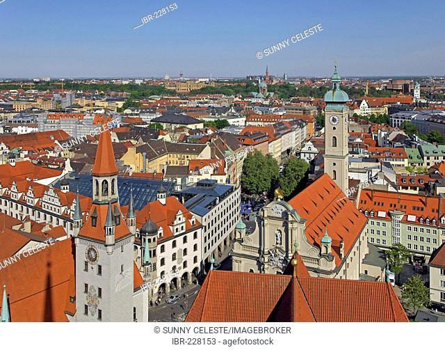 Skyline of Munich, Bavaria, Germany