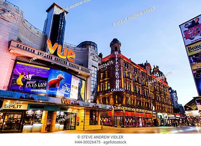 England, London, Soho, Leicester Square, Vue Cinema Complex and Hippodrome Casino