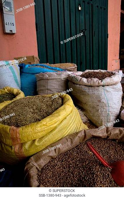 Spices in a market, Ouarzazate, Morocco