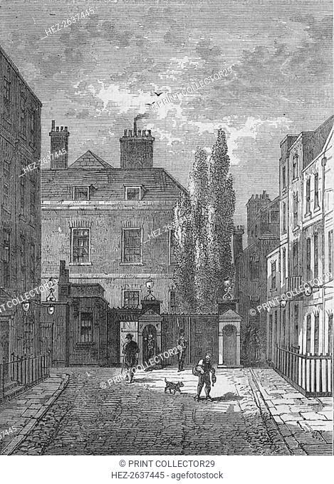 Warwick House, Westminster, London, c1810 (1878). Artist: Unknown