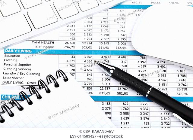 Financial papers, computer and office supplies