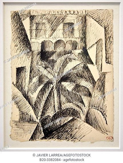 """""""Maisons et palmiers"""", 1909, Pablo Picasso, Picasso Museum, Paris, France, Europe"""