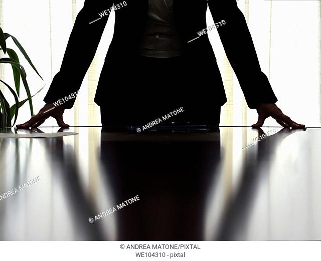 Woman manager in a business stance during a meeting