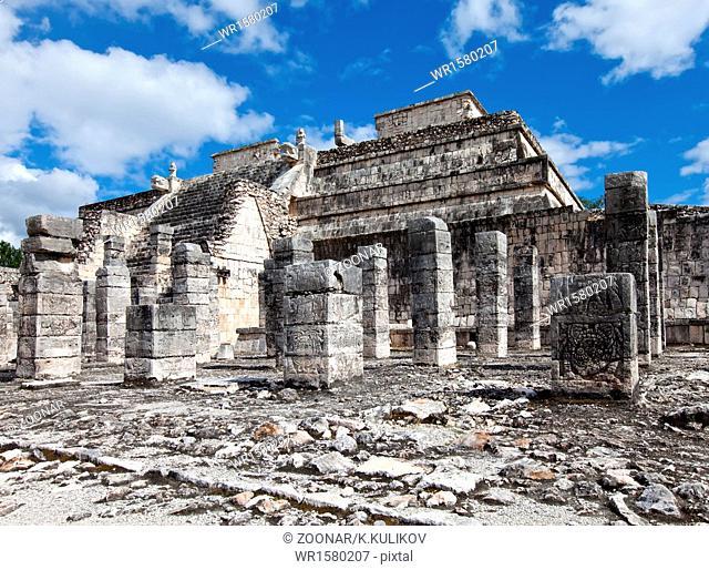 1000 pillars complex at Chichen Itza site, Yucatan