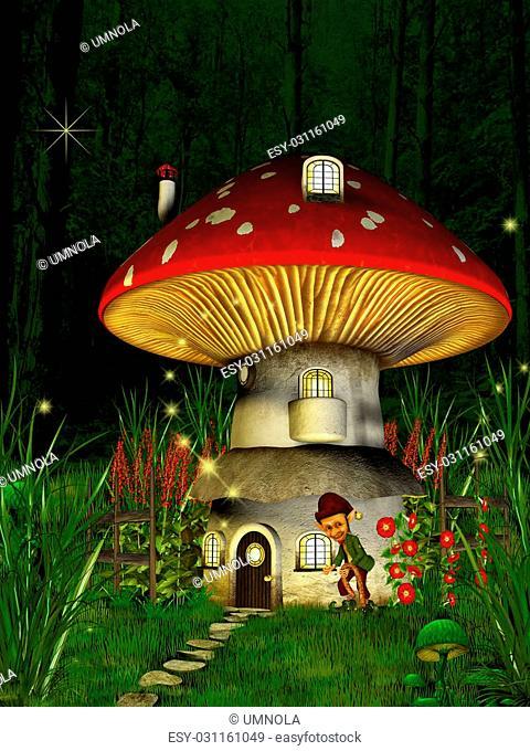 Dwarfs land, Mushroom house, dreamyland