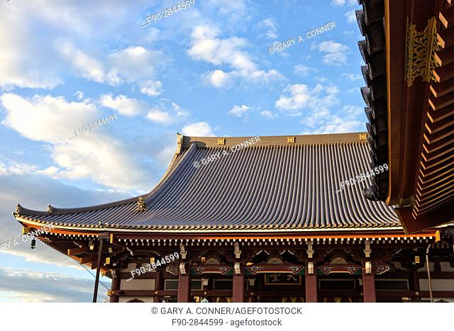 Roof lines of Honmonji Temple at Ikegami, Tokyo, Japan
