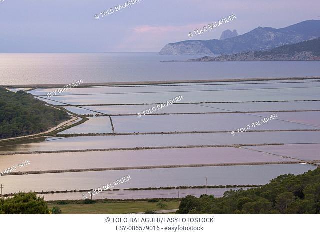 Estany des Cavallet. Natural Park of Ses Salines de Eivissa i Formentera. Ibiza. Illes Balears. Spain