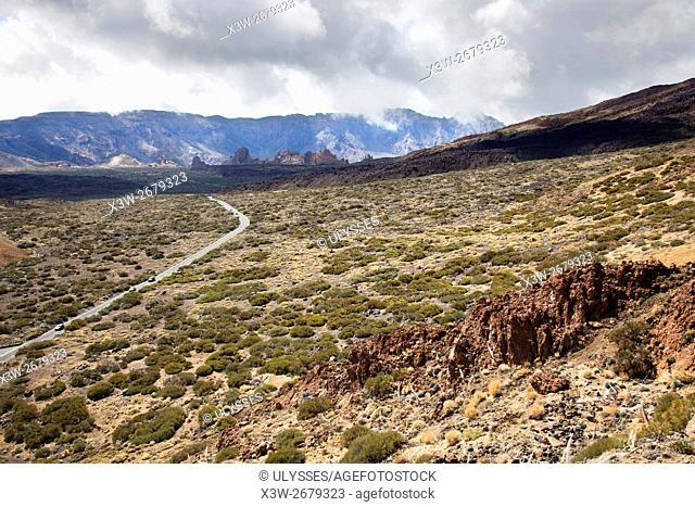 View from the Teide volcano, Tenerife island, Canary archipelago, Spain, Europe