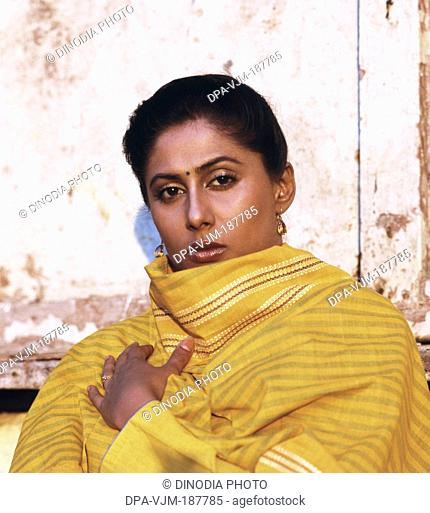 1978, Portrait Of Indian film actress Smita Patil