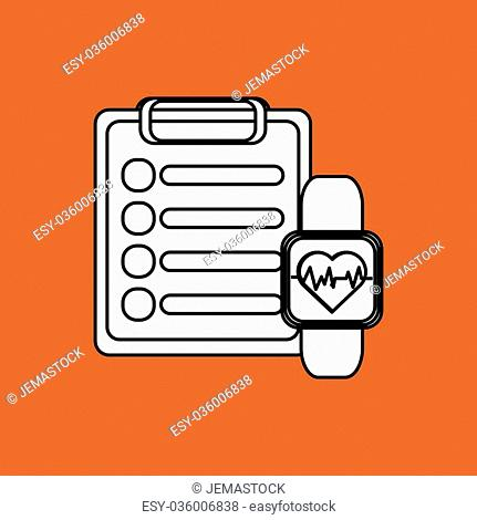 Healthy lifestyle concept with icon design, vector illustration 10 eps graphic