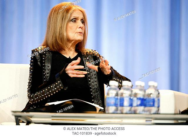Gloria Steinem speaks during a keynote Q&A at the 2015 Pennsylvania Women's Conference