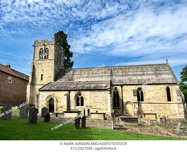 St Mary the Virgin Church of England Parish Church at Goldsborough near Knaresborough North Yorkshire England