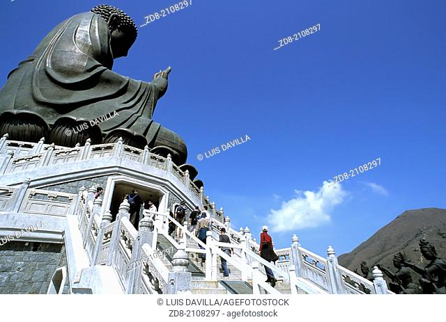 hong kong. big buddha in latau island