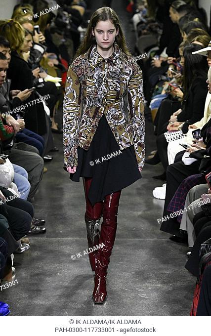 MUGLER runway show during Paris Fashion Week, AW19, Autumn Winter 2019 collection - Paris, France 27/02/2019   usage worldwide. - Paris/France