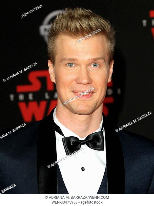 """Star Wars: The Last Jedi"" Premiere held at the Shrine Auditorium in Los Angeles, California. Featuring: Joonas Suotamo Where: Los Angeles, California"