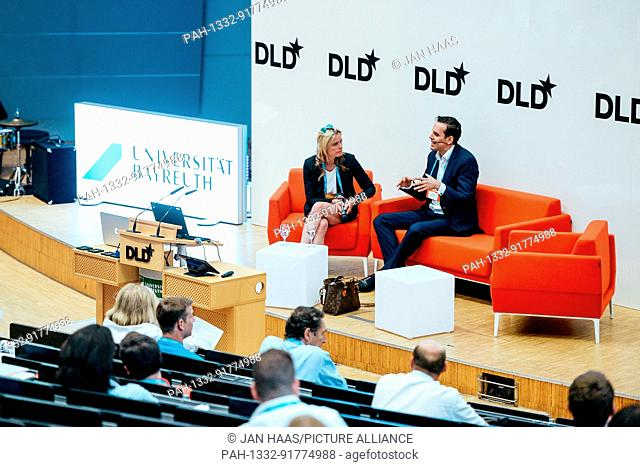 BAYREUTH/GERMANY - JUNE 21: Ricarda Bouncken (University of Bayreuth, l.) talks with Christian Angermayer (Apeiron Investment Group) in a panel discussion on...