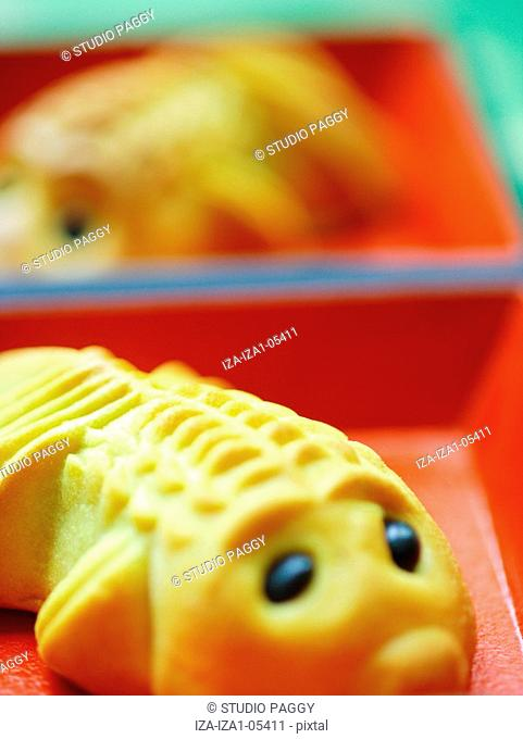 Close-up of a fish shaped cake