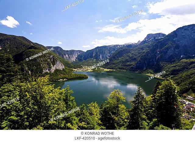 Hallstatt lake, Salzkammergut, Alps, Upper Austria, Austria, Europe