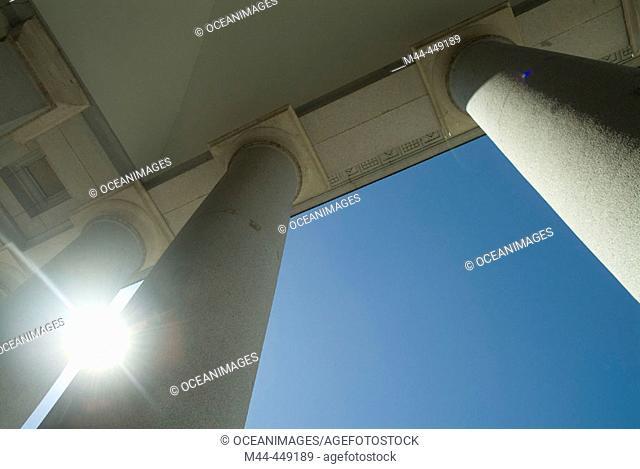 Columns of Prado Museum, Madrid. Spain