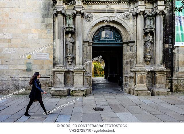 Walking on the streets, Santiago de Compostela