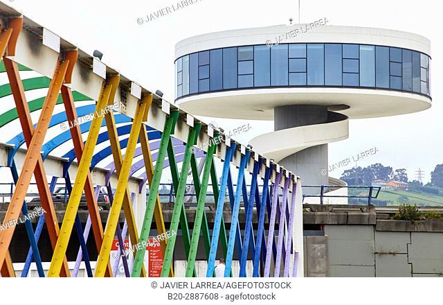 San Sebastian bridge, Oscar Niemeyer International Cultural Centre, Avilés, Asturias, Spain, Europe