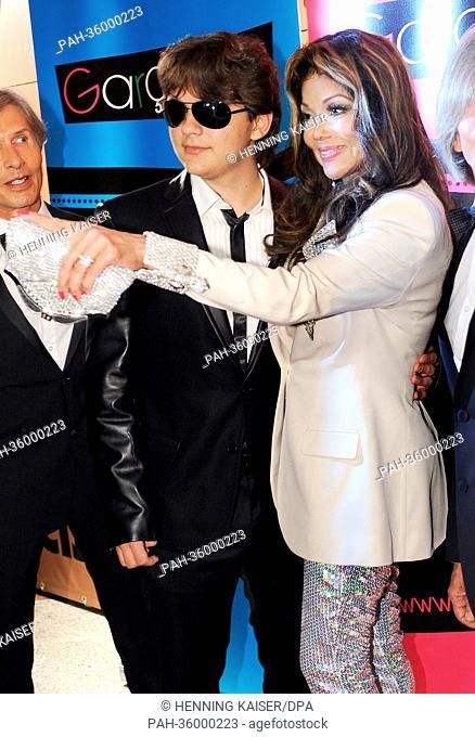 US singer La Toya Jackson (R) and Prince Michael Jackson (L) arrive to the Jummimüüs Gala event in Cologne, Germany, 4 January 2013