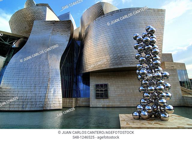 Anish Kapoor sculpture at the Guggenheim Museum in Bilbao Vizcaya Spain Basque Country
