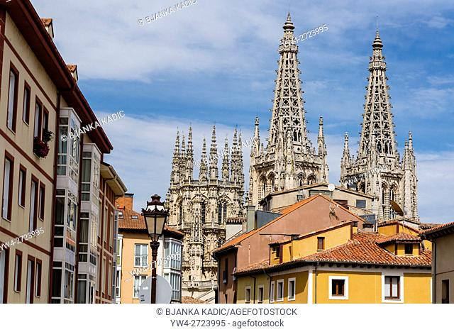 Cathedral of Saint Mary of Burgos is a Catholic church dedicated to the Virgin Mary. Started in 13th century it is built in French Gothic style