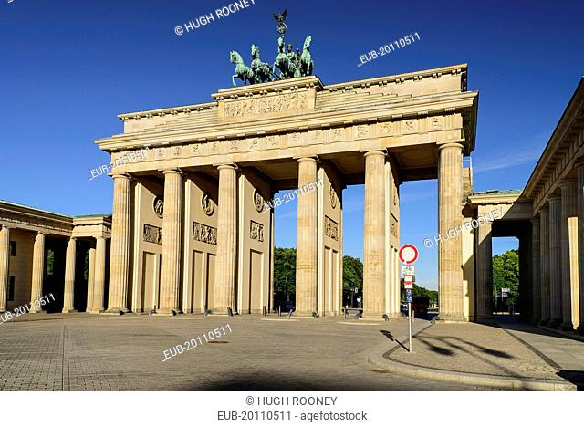 Brandenburg Gate from the east side