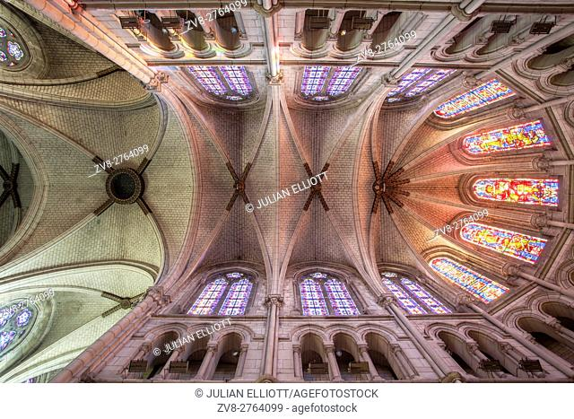 The church of Saint Paterne in the city of Orleans, France. The city is famous for being the birthplace of Joan of Arc