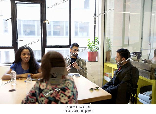 Business people talking in conference room meeting