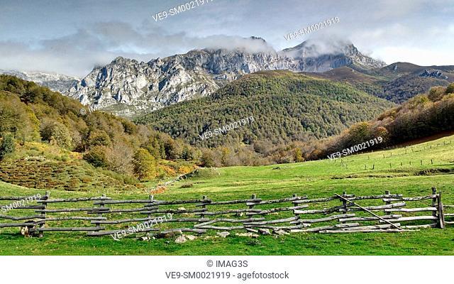 Cornión Massif from Vegabaño, Picos de Europa National Park and Biosphere Reserve, León province, Spain