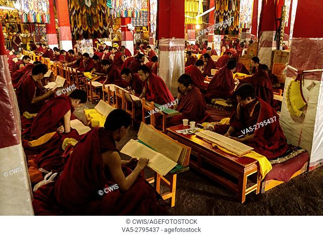 Lhasa, Tibet - The view in Drepung Monastery, the biggest Buddhism Monastery in the world