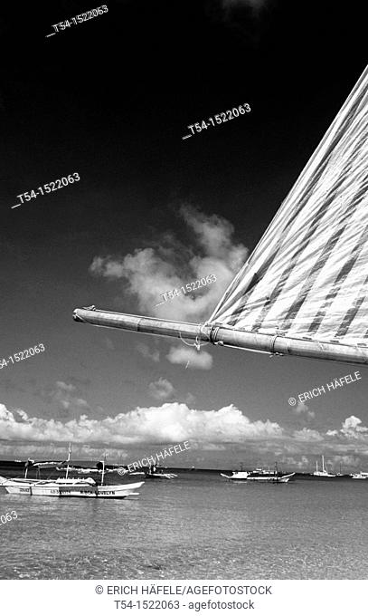 Sailing Boat at White Beach, Boracay