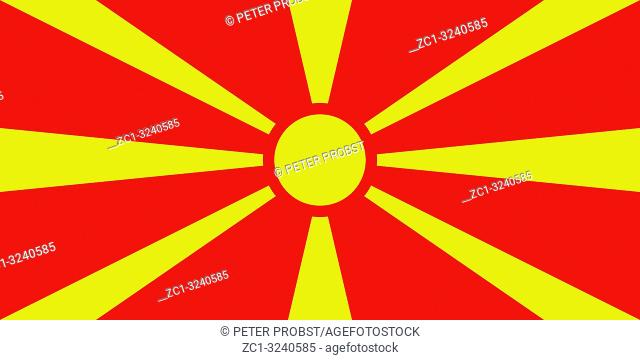National flag of the Republic of North Macedonia