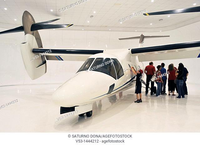 visitors and aircraft BA 609 tiltrotor, Agusta Westland Bell, Volandia Flight Museum, Somma Lombardo Varese - Italy
