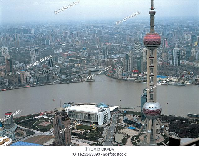 Overlooking Pudong & Puxi from Jin Mou Building, Shanghai, China
