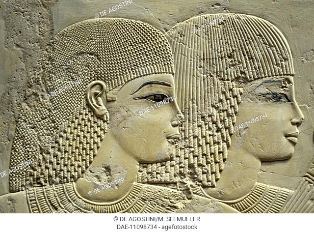 Ramose's brothers, detail, relief from the Hypostyle hall, Tomb of city governor and vizier Ramose, necropolis of Sheikh 'Abd al-Qurna