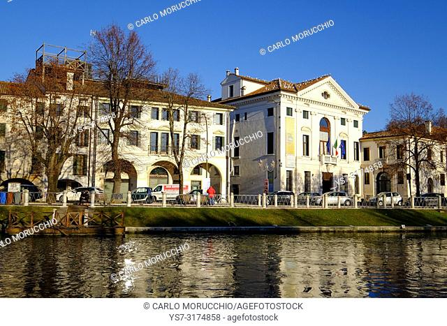 Palazzo Giacomelli, Riviera Garibaldi, Sile river, Treviso, Veneto, Italy, Europe