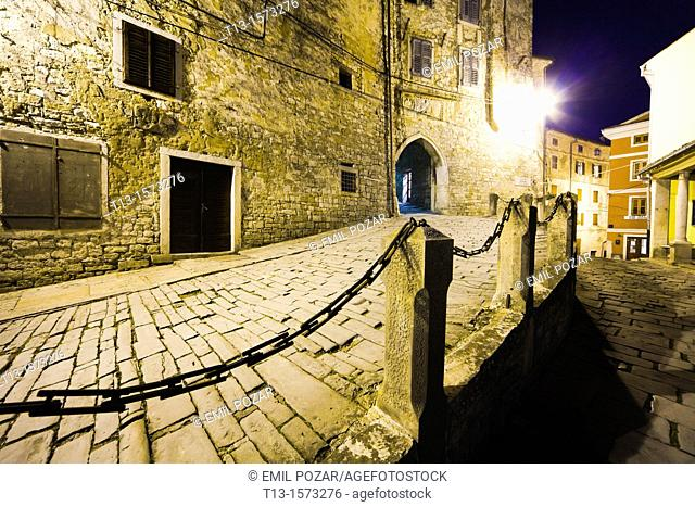 Motovun medieval town in Istria, Croatia, entrance to the town
